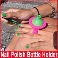 art artifact - Newest Beauty Care Accessories Necessities Silica Gel Nail Polish Bottle Finger Holder Beauty Artifact Sets Nail Art Tools