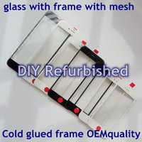 Wholesale 3 in1 OEM Original For iPhone G C S s SP Original Front Outer Screen Glass Lens Cover With Bezel Frame with airmesh