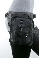 best running waist pack - Gothic Leather Fanny Pack Multifunction Waist Bags for Women Men Best Mobile Phone Shoulder Bag Running Waist Packs