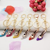 Wholesale High heels key chain High heeled shoes handbags accessories car key ring chain pendant Multicolor high heel key ring Holiday gift keychain