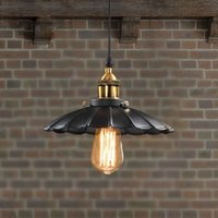 Wholesale Edison Vintage Style Industrial Light Loft Retro Nostalgia Chandelier Lamp Cafe bar Restaurant LED Black Lotus Umbrella Pendant Lamp quot