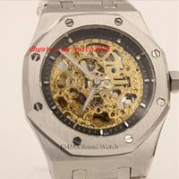 automatic movement stylish - Stylish Design Men s Luxury Watches Wristwatch Brand Automatic Movement Watch Skeleton Hollow Silver Case Stainless Steel Bracelet Clock