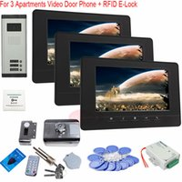 apartment video entry system - For Apartments Inch Screen Video Door Phone Entry System with Home Security Keys Camera RFID Electronic lock In Stock