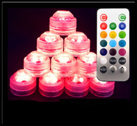 Wholesale inch Waterproof fish tank LED light and color flower vase LED lights with remote control can use glass bongs oil rigs hookah