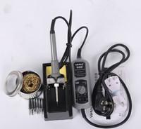 YIHUA 908 + 60W Fer à souder électrique Solder Station Thermostat réglable Mini fer à repasser de réparation Outils de réparation + 6pcs Iron Tips