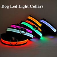 Wholesale D06 new arrival Pet Dog Collar LED Light Nylon Night Safety LED Dog Collars
