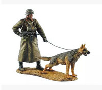 Wholesale Scale Models WW2 The German military police dogs WWII Resin Model