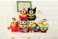 america pc game - 1 cm Despicable Me minions piush toys cosplay Captain America Superman spider man Creative toys for children gift