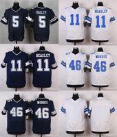 bailey white - Drop Ship Cowboys Men s Dan Bailey Cole Beasley Alfred Morris Stitched Jerseys Blue White