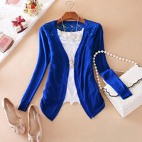 Wholesale The new dress lace thin cardigan sweater Women s sunscreen used in air conditioning unlined upper garment Cape coat