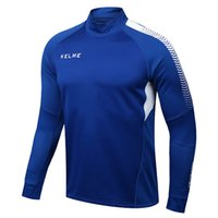 Wholesale Kelme K089 Men Long Sleeve Thumb Buckle Training Light Board Team Sportswear Football Jersey Blue