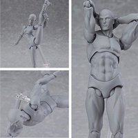 Wholesale 2 x Figma Archetype Next Female He She Body Gray Ver PVC Action Figure cm
