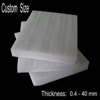 Wholesale Customize Made Thickness mm EPE Foam Sheet Protective Film Pre cut Foam Cushion Wrap White Polyethylene Packing Material
