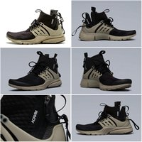 bamboo kids shoes - Drop Shipping Cheap Famous Acronym Air Presto MID Black Bamboo Black Kid Boys Men Running Shoes Sneaker Trainers size