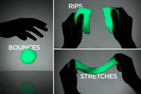 Wholesale Education Luminous New Shining Bright In Night Dark Bouncing Silly Putty Handgum Toy Plasticine