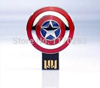 Wholesale Marvel s The Avengers GB GB GB G Personalized Metal GB USB Iron Man Thor Captain America Hulk Hero USB Flash Drive GB