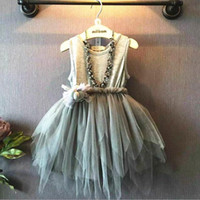nylon chiffon - newborn autumn winter dresses Girls Dresses Childrens ruffles clothing Party Princess Baby Dress Tollder And Newborn Dress Kids Clothes