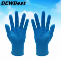 Wholesale hot selling DEWBest Disposable Blue rubber work glove and black disposable pvc nitrile latex gloves