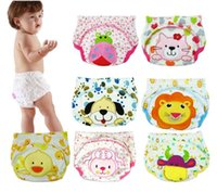 Wholesale 80 cheap baby waterproof training diapers boys and girls cartoon diaper elastic children s cotton diaper