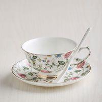 Wholesale Hotsale Classic Bone China Ceramic Tea Cups England Royal Coffee Tea Cups And Saucers Set Wedding Gife Box