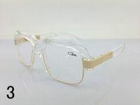 Caz al gafas de sol de cristal 670 de alta calidad polarizada baratos hombres gafas de sol de las mujeres marrón negro de lujo de marca diseñador de gafas oversized Oculos