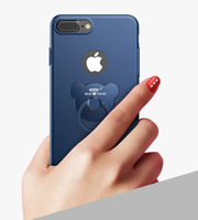 bear blue house - For Iphone Housing Case Cover For iPhone plus s plus With Bear Ring Bracket matte Thin Mobile Phone shell