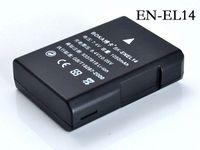 Wholesale 2Pc EN EL14 rechargeable Battery EN EL14 ENEL14 Camera batteries for Nikon D5200 D3100 D3200 D5100 P7000 P7100 P7700 MH D5500