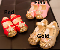 Wholesale Children Girls Sequin Crown Leather Shoes Spring Autumn Princess Party Dancing Wedding Dress Shoe Kids Flat Crystal Shoes ZJ S03