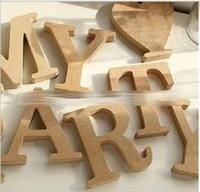 Wholesale Wood Numbers Letters Heart Dot Decoration Wooden Letter Alphabet Bridal Wedding Party Home Decorate Wedding Party D5659