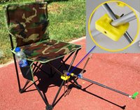beach backrest chair - Outdoor portable Fishing Chair With Side Bag Portable Camouflage Fishing Chair With Backrest Oxford Fabric Foldable Camping Beach chair