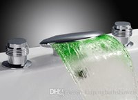Wholesale bathtub LED faucet color changing led faucet