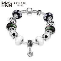 amazon bead - 2016 Hot Leica Amazon DIY Crystal Beaded Bracelet Jewelry Trade and handmade beads jewelry box buckle PDRH007