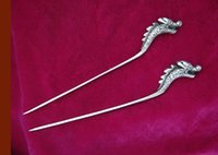 Wholesale 1 Handmade Tibet silver Dragon hairpin