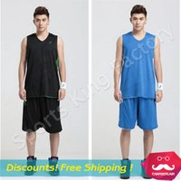 Wholesale Basketball clothes suit Men Basketball training suit vest women sports game jersey DIY custom brand jersey