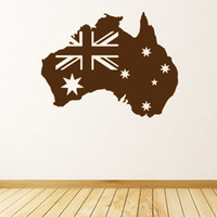 australian flag stickers - PVC Removable Waterproof Self Adhesive Australian Flag Map Wall Sticker Home Decor Living Room Bedroom