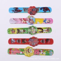 Wholesale Slap Bracelet the new cartoon ring pops silicone wrist band PVC hand pat circle reflective children gift wholesale3