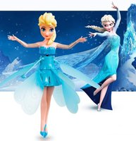 battery operated plane - New Battery Operated Elsa Flying Fairy Electronic Toys Sunbeam Flower Fairy Fairies Remote Control Plane Infrared Sense Aircraft