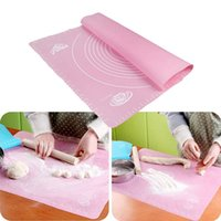 Wholesale 50 cm Silicone Mat Baking Cake Dough Fondant Rolling Kneading Mat Baking Mat With Scale Cooking Plate Table Grill Pad Tools