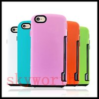 Plastic apple iphone innovation - iFace Innovation Hybrid Case Wallet Card Slot Cover for iPhone s plus S SE Samsung S6 Edge S5 S4 Note