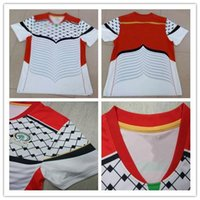 Wholesale Newest Best quality Palestine home white Soccer shirts jerseys Adult men home Short sleeve soccer shirts