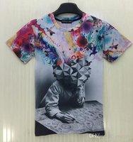 artist t shirt - Mikeal Cartoon t shirt men women Fashion d tshirt printed Artist painting T shirt Hip hop t shirt streetwear T62