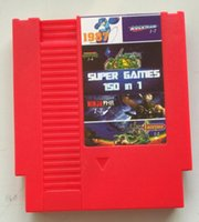 Wholesale Top Pins bit Game Cartridge in with game Rockman NINJA TURTLES Contra Kirby s Adventure Battery Save Red