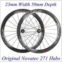 Wholesale Red Eagle Complete Carbon Wheelset C mm ZIPP Road Bike Wheels Clincher Tubular Rims Available With Novatec Hubs