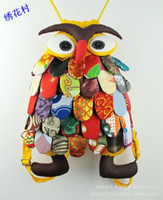 Wholesale large size cm wide cm height owl backpack owl fashion Chinese national characteristics