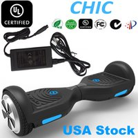 Wholesale USA Stock IO CHIC Smart Hover Board WRD Electric Skateboard UL Smart Balance Scooter Unicycle Scooter Wheels LED Light Hoverboard