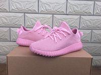 2016 Yeezy 350 Boost yeezy impulso púrpura rosado de la Mujer mejores zapatos casuales zapatos para correr deporte roca tamaño de los zapatos US6-9 aptitud
