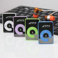 big black portable - Big promotion mini Mirror Surface Clip MP3 Player With Micro TF SD Card Slot Portable sport mp3 Music players walkman