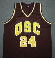 basketball usc - BRIAN SCALABRINE White Mamba USC Trojans College Basketball Jersey Embroidery Stitched Personalized Custom any size and name Jerseys