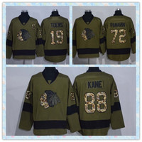 Wholesale Fast Ice Hockey Jersey Chicago Blackhawks Jonathan Toews Artemi Panarin Patrick kane Army Green Salute to Service Jerseys