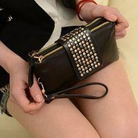 Wholesale 1pc New soft Women Card Coin holder ZIP Wallet PU Leather Clutch Purse Bag C00117 SPDH